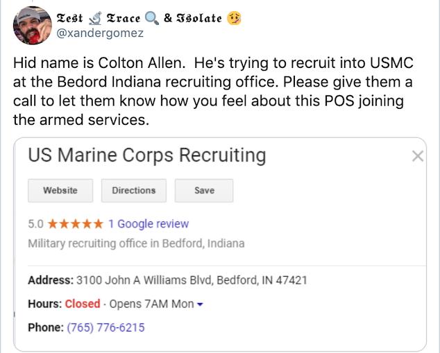 Colton Allen Bedford Indiana