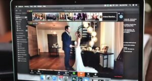 Zoom video wedding