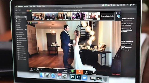 Zoom video wedding