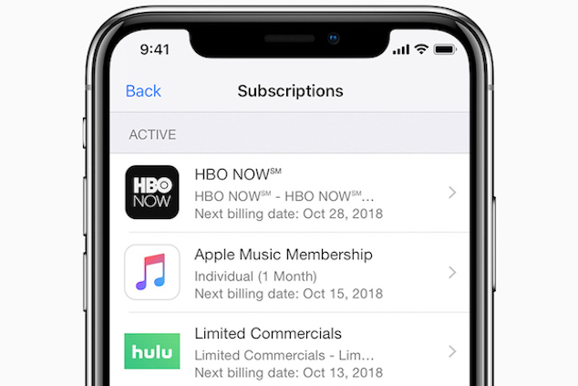 app store subscriptions