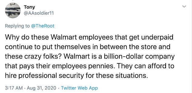 Maskless Anchorage Alaska Walmart shopper