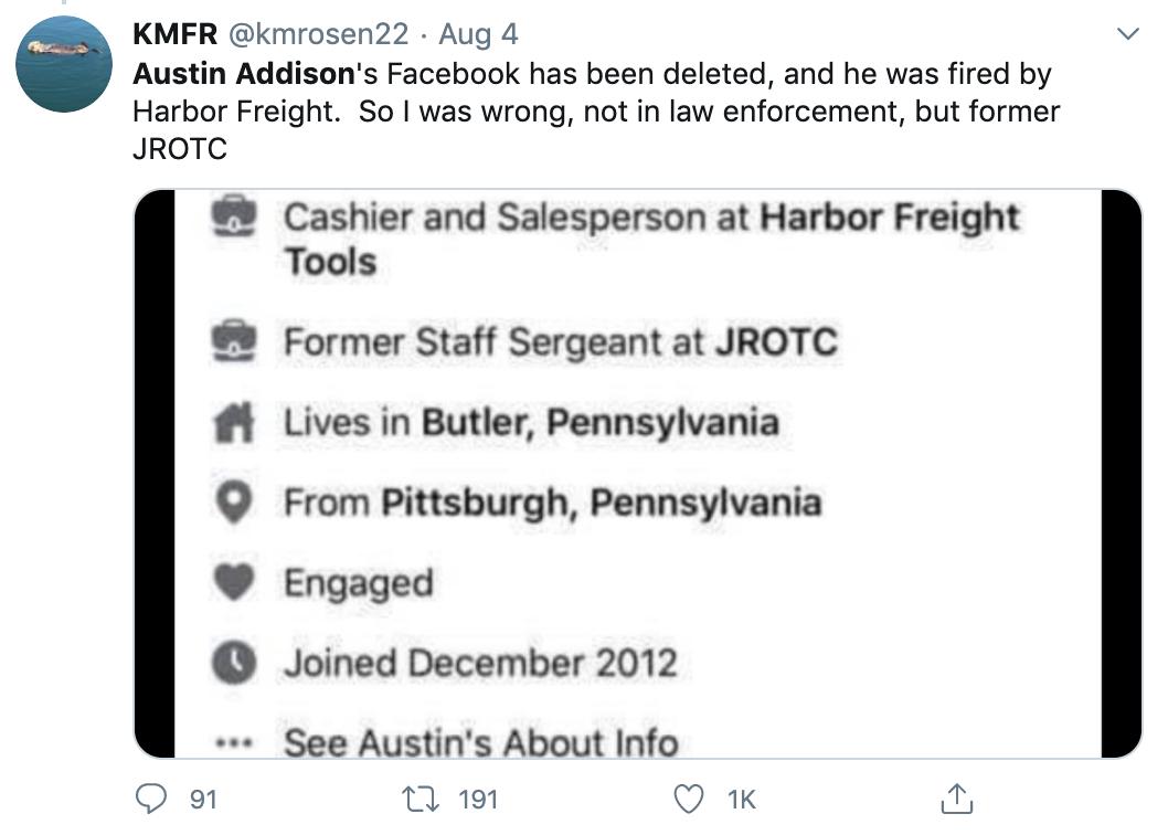Austin Addison Butler, PA man