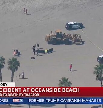 Oceanside beach woman crushed to death