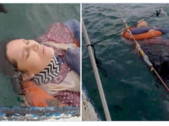 Angelica Gaitan Colombian woman found out at sea.
