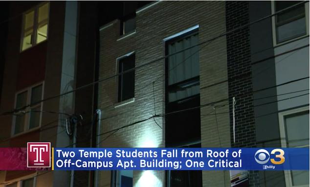 Temple University selfie