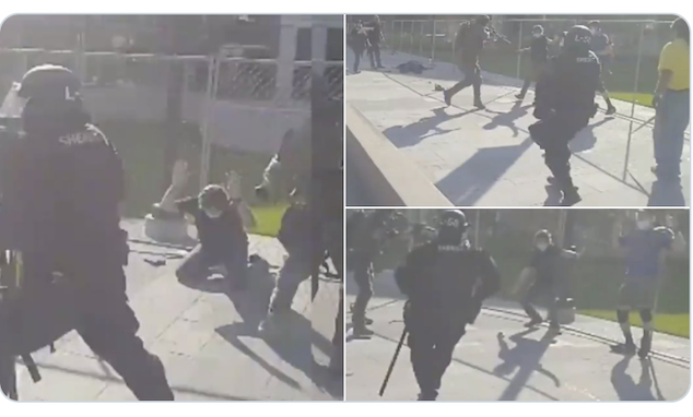 Denver Patriot Militia supporter shot dead 9NewsTV private security guard