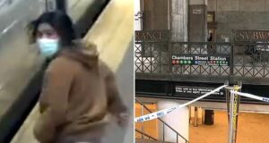 Chambers J/Z Street Station subway stabbing