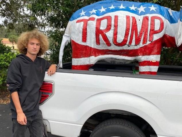 Tyler Maxwell Florida Trump elephant driving student