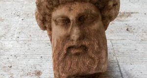 Ancient Greek God Hermes bust found
