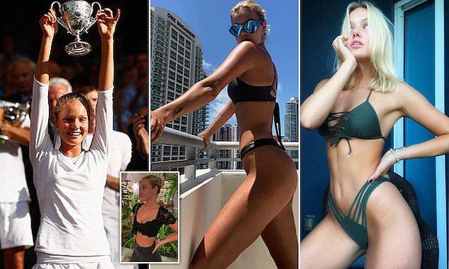 Wiimbledon tennis player Instagram topless post