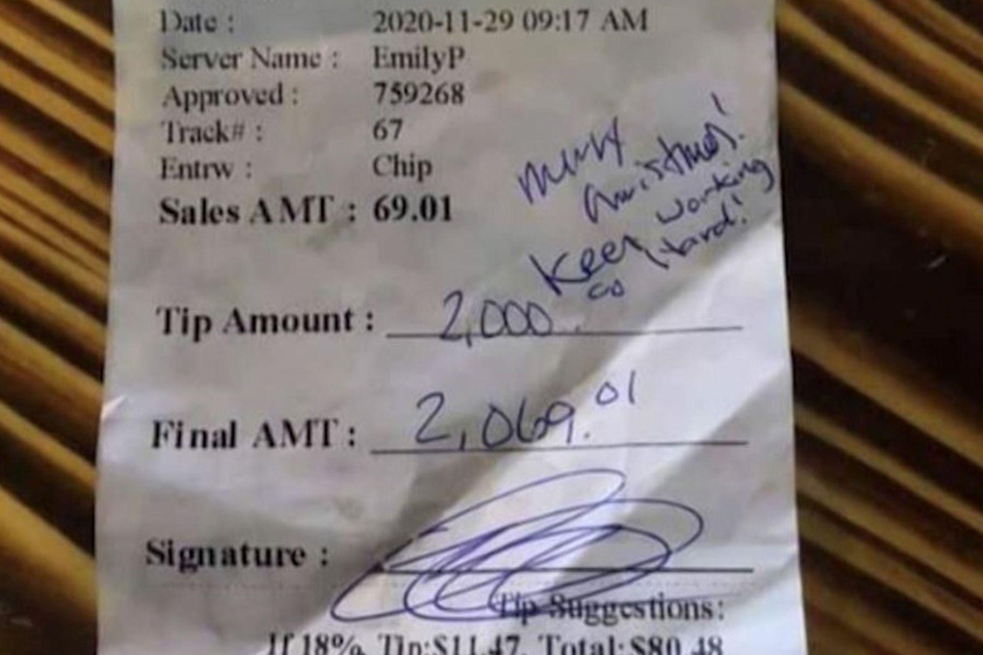 Emily Bauer San Antonio waitress $2K tip