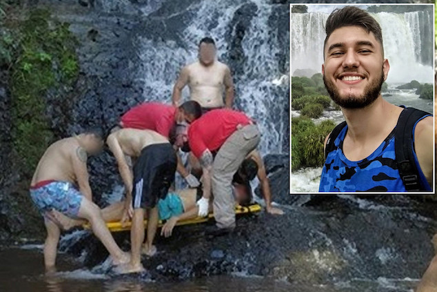 Guilherme Chiapetti waterfall selfie death