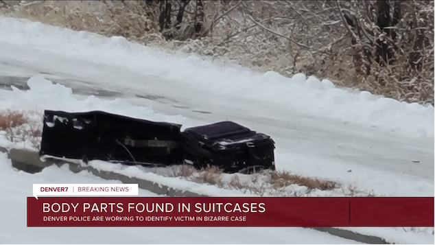 Man's body found in two suitcases along Denver trail