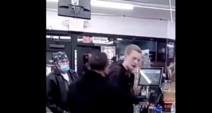 White man beaten racist tirade against gas station customer