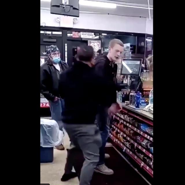 White man beaten racist tirade against gas station customer