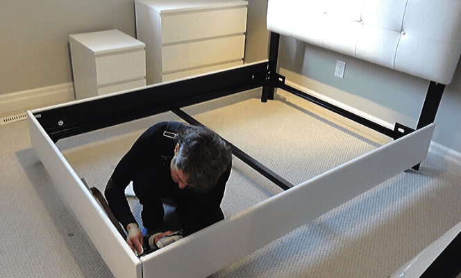 Disassembling furniture items when moving