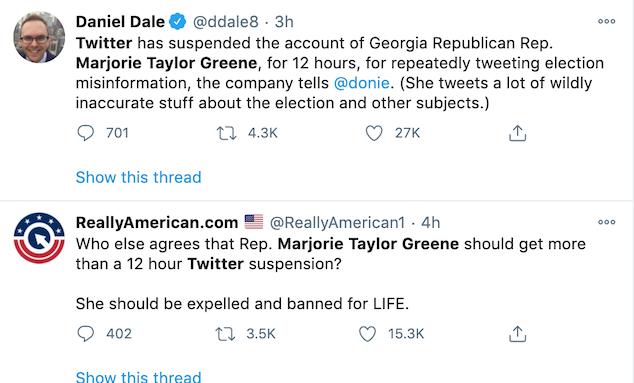 Marjorie Taylor Greene Twitter