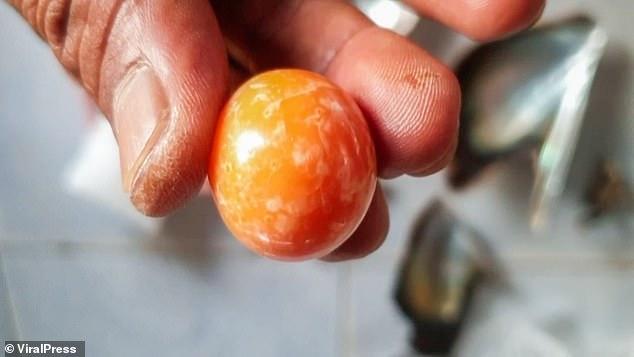 Thai fisherman finds rare orange pearl