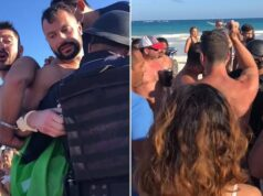 Canadian gay couple arrested Tulum beach kissing