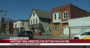 Rochester teens set man on fire