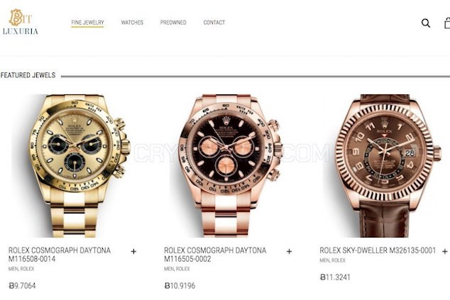 Buying Luxury Goods with Bitcoin.