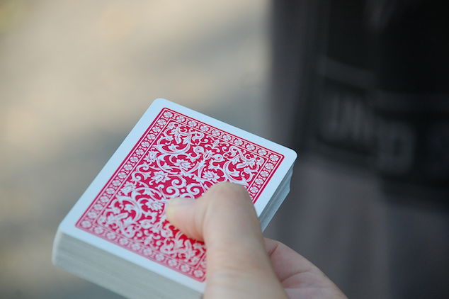Deck of Card Tricks during downtime