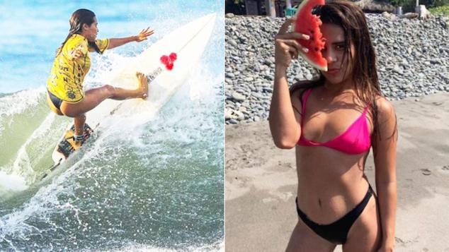 Katherine Díaz Hernandez El Salvador surfer struck by lightning