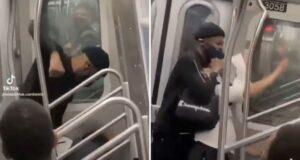 Asian man beaten nyc subway train