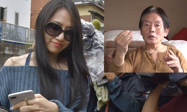 Kosuke Nozaki and Japanese widow Saki Sudo