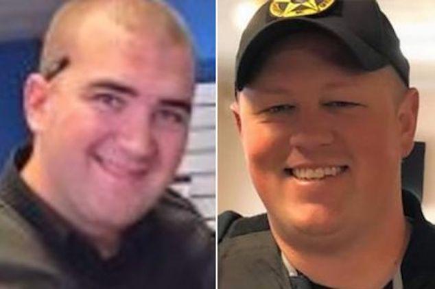 Boone County NC sheriffs deputies; Sgt. Chris Ward and K-9 Deputy Logan Fox.