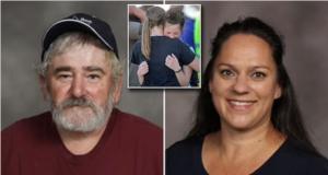 Jim Wilson Rigby janitor and Krista Gneiting Rigy math teacher