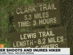 St Charles County Missouri hiker shot in the chest