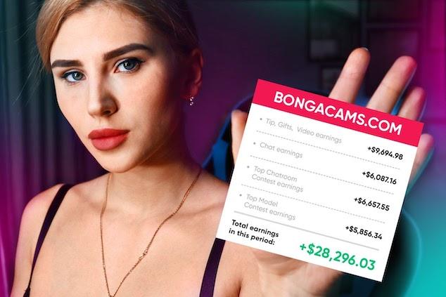 webcam site income