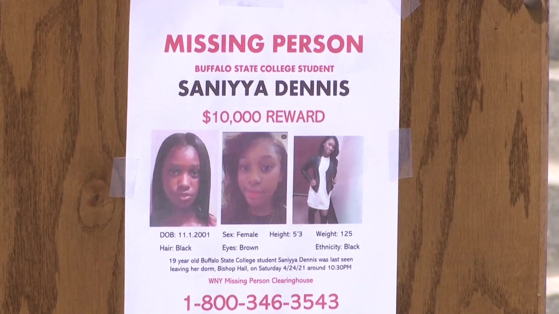 Buffalo State sophomore missing
