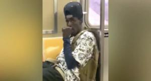 Man pleasures self on NYC subway A train while sucking thumb