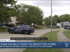 18 year old Brighton Michigan man shoots father dead