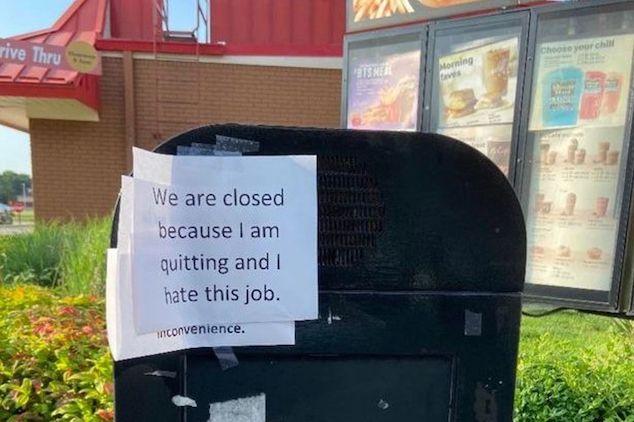 Kentucky McDonalds worker quits mid shift