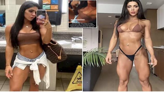 Deniz Saypinar Turkish bodybuilder banned American Airlines