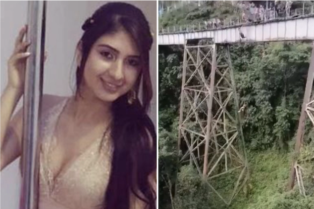Colombian bungee jumper accidentally leaps to her death