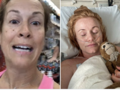 Kate Burns Breast Cancer patient punched by Shiva Bagheri anti masker