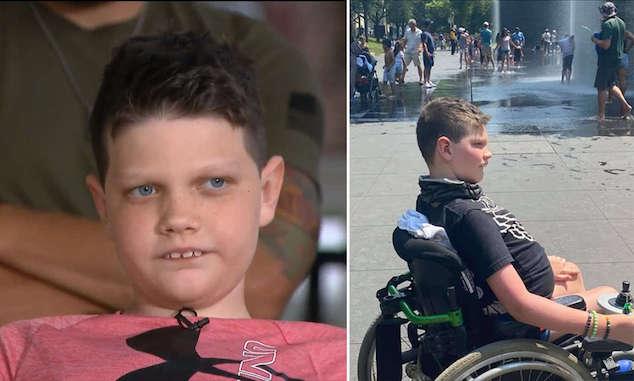 Jordan Block disabled Chicago boy wheelchair