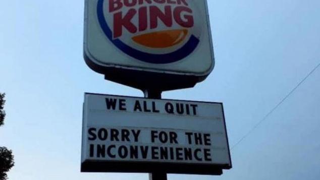 Rachel Flores Nebraska Burger King worker quits