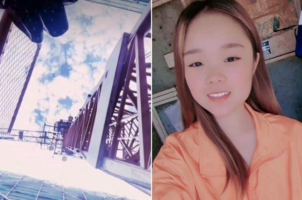Xiao Qiumei Chinese influencer crane video
