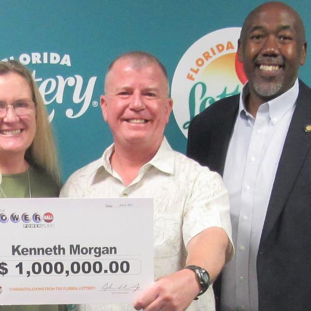 Kenneth Morgan Florida lottery ticket winner