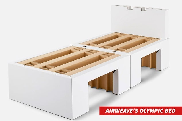 anti sex cardboard beds Tokyo Olympic games