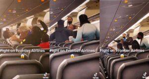 Frontier Airlines brawl white man black man