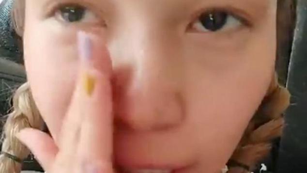 Afghan girl crying video