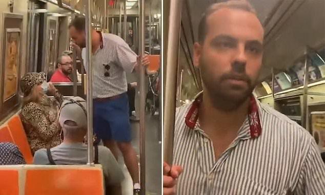 Ryan Bartels Carmax aka 1776 NYC subway anti masker