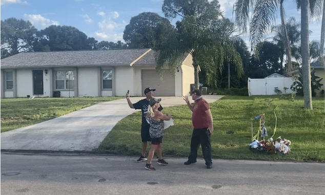 Brian Laundrie neighbor & protester fight