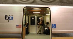 Amy Adams SF woman dragged by bart train to her death while tethered to her dog by the waist.